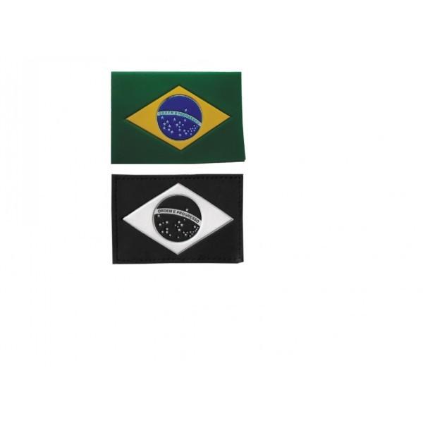 Bandeira do Brasil Emborrachada com Velcro para Fardamento
