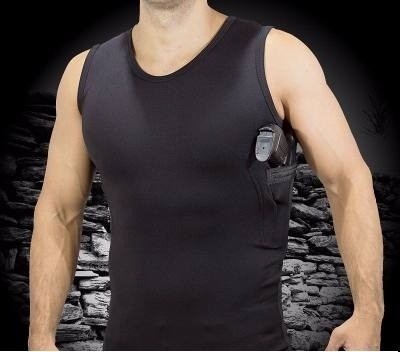 Camiseta com Coldre e Porta Carregador Interno