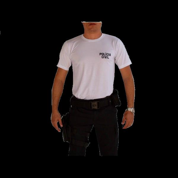 Camiseta Policia Civil Branca - Nacional