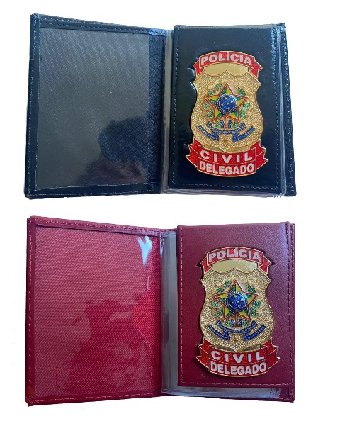 Carteira Delegado Polícia Civil - Brasão Nacional