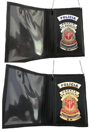 Carteira Distintivo Agente de Escolta Penitenciaria SP - AEVP