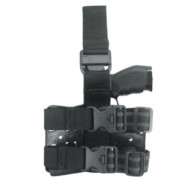 Coldre de Perna Black Light para Pistolas com Lanternas e Mira Laser