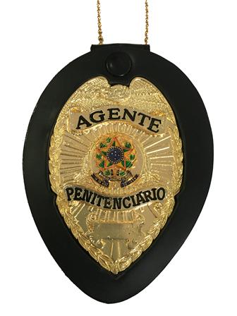 Distintivo Agente Penitenciario ou Penitenciaria - Agente Masculino e Agente Feminina - Nacional