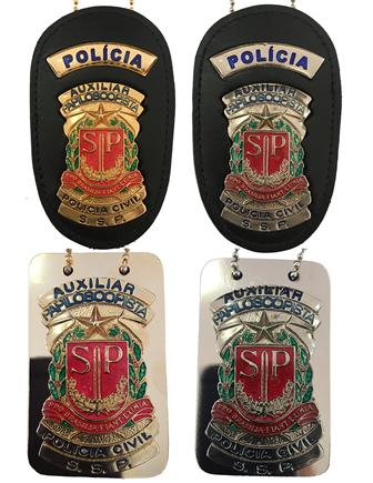 Distintivo Auxiliar Papiloscopista Polícia Civil SP - PCESP