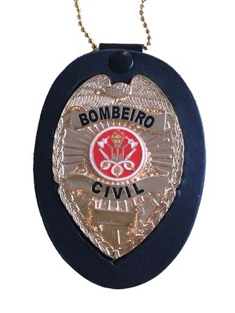 Distintivo Bombeiro Civil - Brasão Bombeiros
