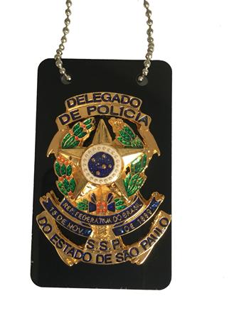 Distintivo Delegado de Policia do Estado de São Paulo - Plaqueta