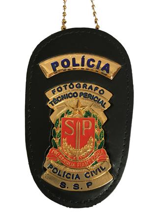 Distintivo Fotografo Tecnico Policial - Policia Civil de SP -