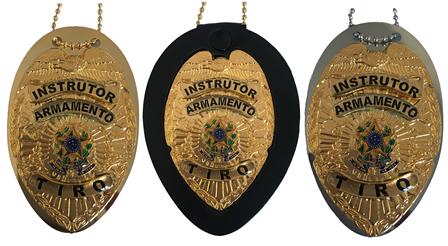 Distintivo Instrutor Armamento e Tiro - Nacional