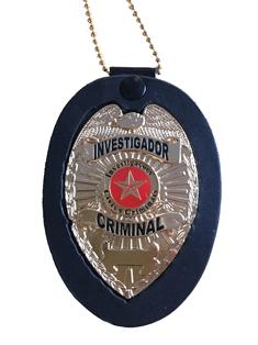 Distintivo Investigador Criminal ou Profissional - Mod Águia