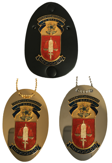 Distintivo OAB - Ordem dos Advogados do Brasil