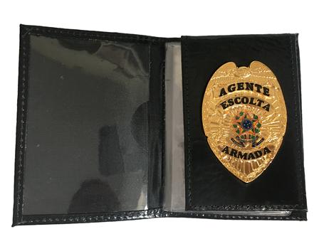 Distintivo ou Carteira Agente de Escolta Armada - Brasão Nacional