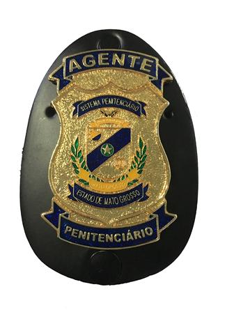 Distintivo ou Carteira Agente Penitenciário MT - ASP/MT