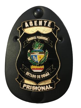 Distintivo ou Carteira Agente Prisional do Estado de Goiás - ASP - GO