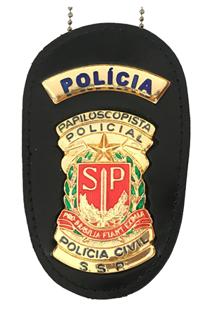 Distintivo Papiloscopista Policial - Polícia Civil SP