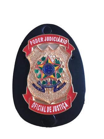 Distintivo Poder Judiciário Oficial de Justiça - Estadual ou Federal