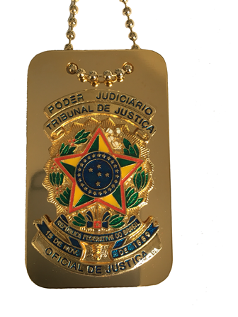 Distintivo Poder Judiciário - Tribunal de Justiça - Oficial de Justiça - Nacional