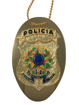 Distintivo Polícia - Brasão Nacional - Todas Polícias