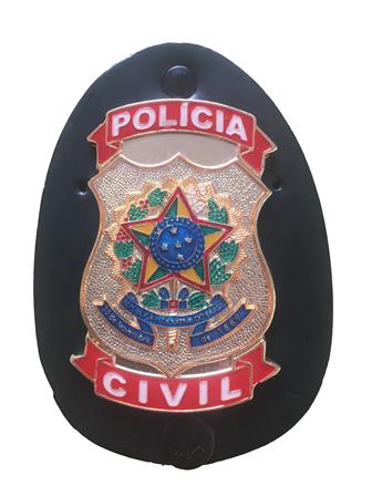 Distintivo Polícia Civil Brasão Nacional