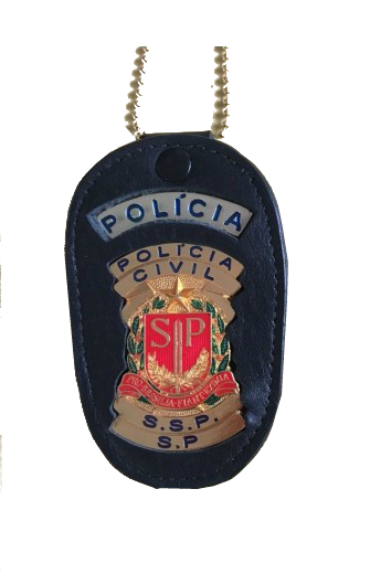 Distintivo Policia Civil de São Paulo couro - PCESP