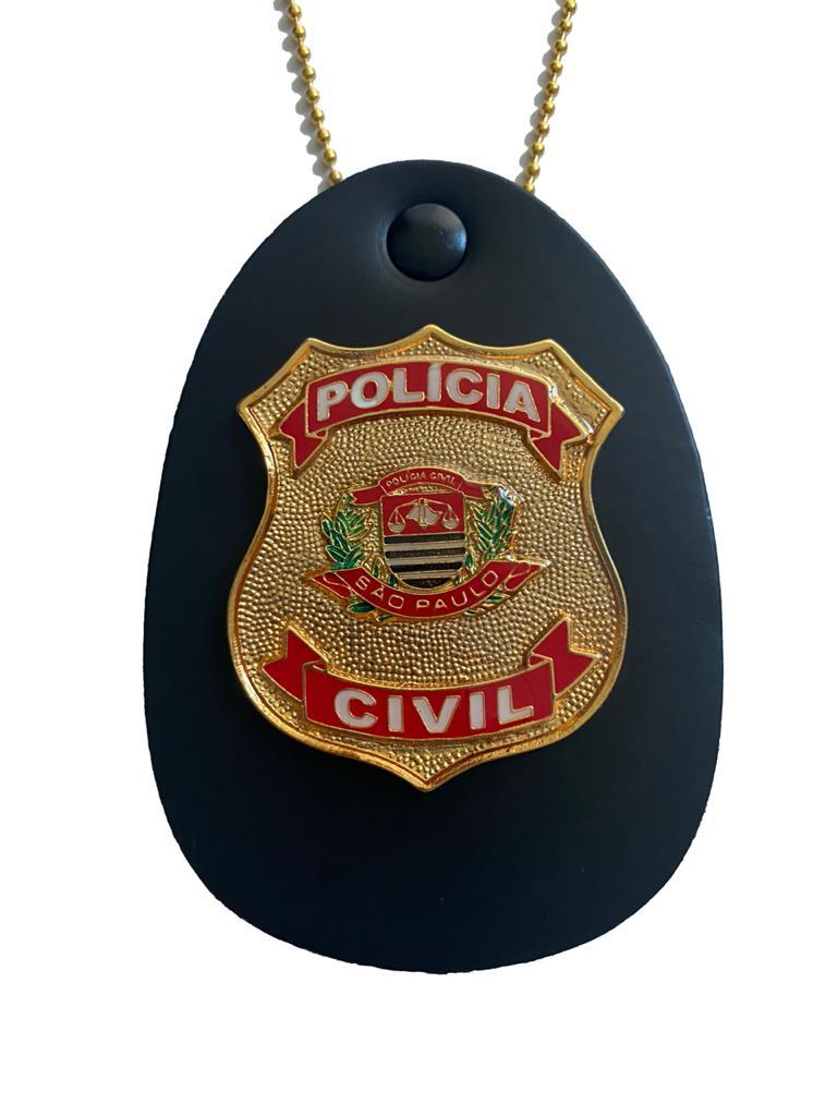 Distintivo Polícia Civil do Estado de São Paulo - PCSP - brasão pequeno