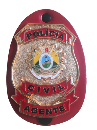 Distintivo Polícia Civil do Estado do ACRE - Agente - PC-AC