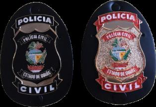 Distintivo Polícia Civil Goiás - PCGO