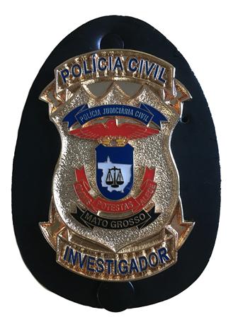Distintivo Polícia Civil Mato Grosso Investigador - PCMT