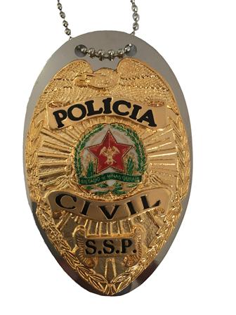Distintivo Polícia Civil Minas Gerais - PCMG