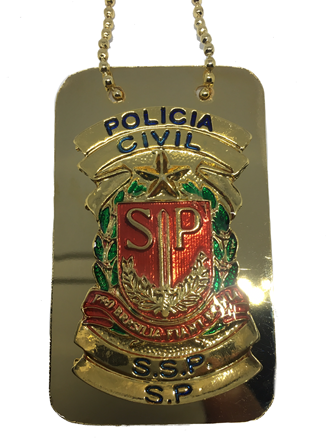 Distintivo Polícia Civil São Paulo plaqueta - SP