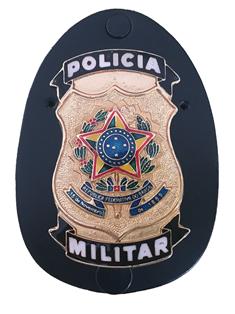 Distintivo Polícia Militar Brasão Nacional - PM