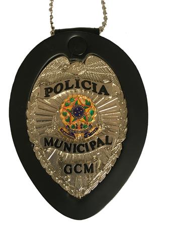 Distintivo Policia Municipal - GCM - Brasão Nacional