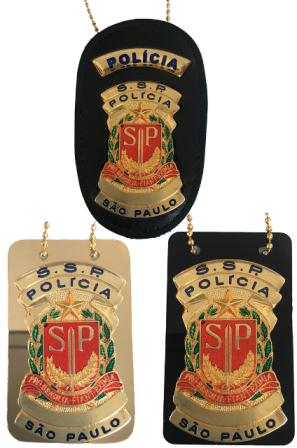 Distintivo Secretaria de Segurança Pública SP - Polícia SSP/SP