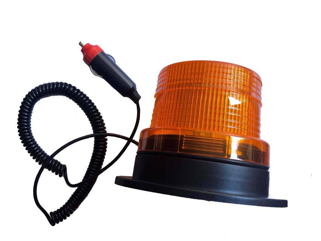 Giroflex LED Curto  Laranja para Segurança com Imã e Acionamento Direto Acendedor.