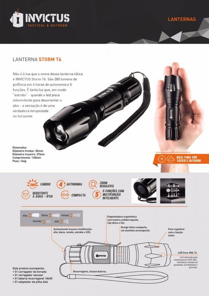 """Lanterna Tática Super Forte com LED T6 a prova D'Água com super Zoom """"Recarregável"""""""