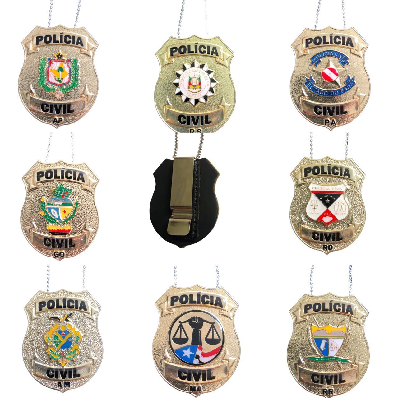 NOVOS Distintivos Polícia Civil dos Estados: AM/AP/GO/MA/PA/RO/RS/RR - Boletim Regimental 155/2017