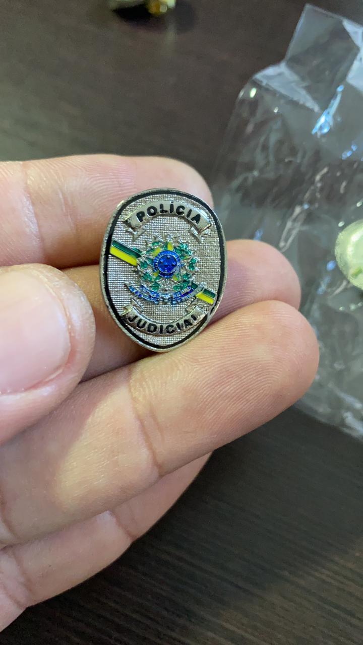 PIN BOTON POLÍCIA JUDICIAL NOVO BRASÃO 2,4 cm - LANÇAMENTO