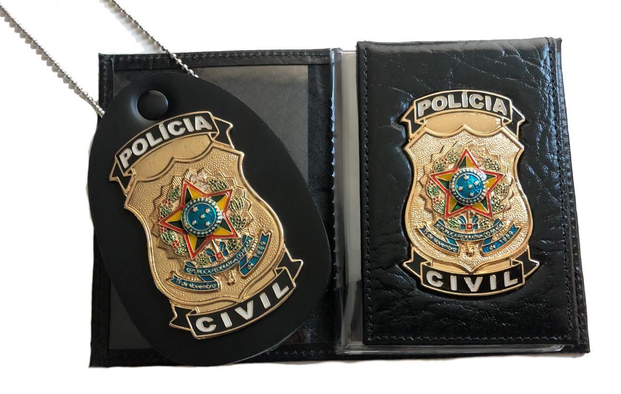 POLÍCIA CIVIL - Carteira + Distintivo
