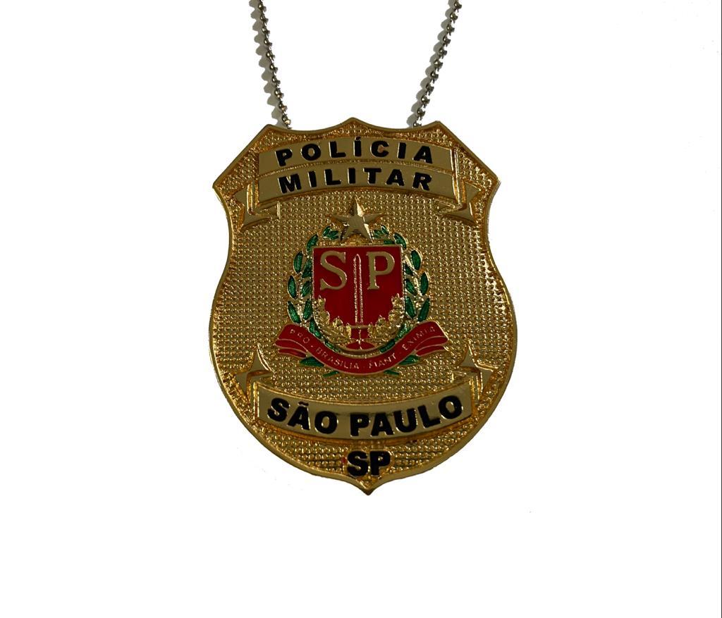 POLÍCIA MILITAR DO ESTADO DE SÃO PAULO - BRASÃO DOURADO NOVO - PMESP