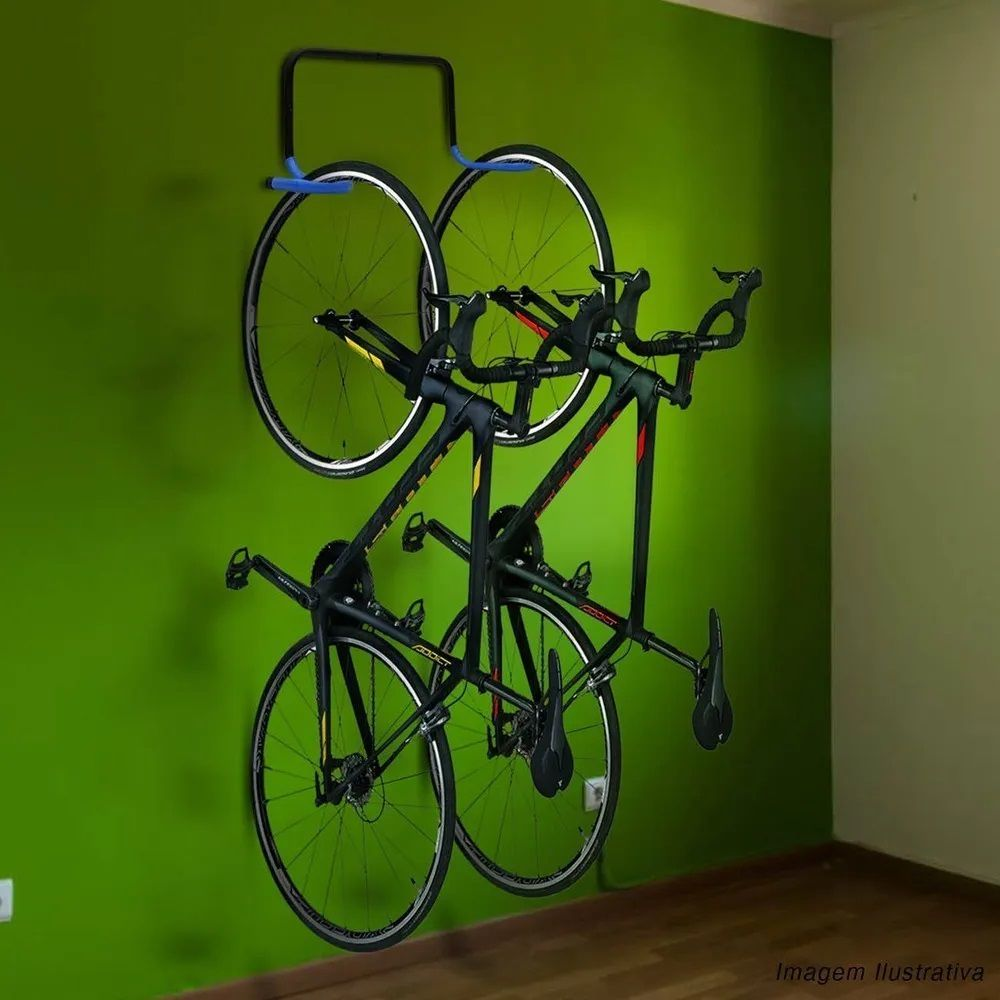 Suporte de Parede Duplo Peixinho (2 Bicicletas)