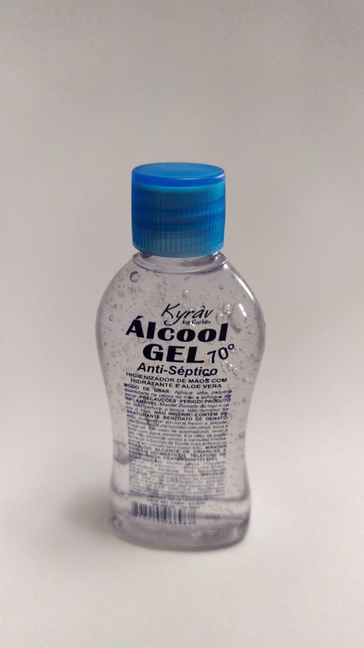 Álcool Em Gel Antisséptico 70º 40g - Hidratante E Aloe Vera - Higienizador de Maos