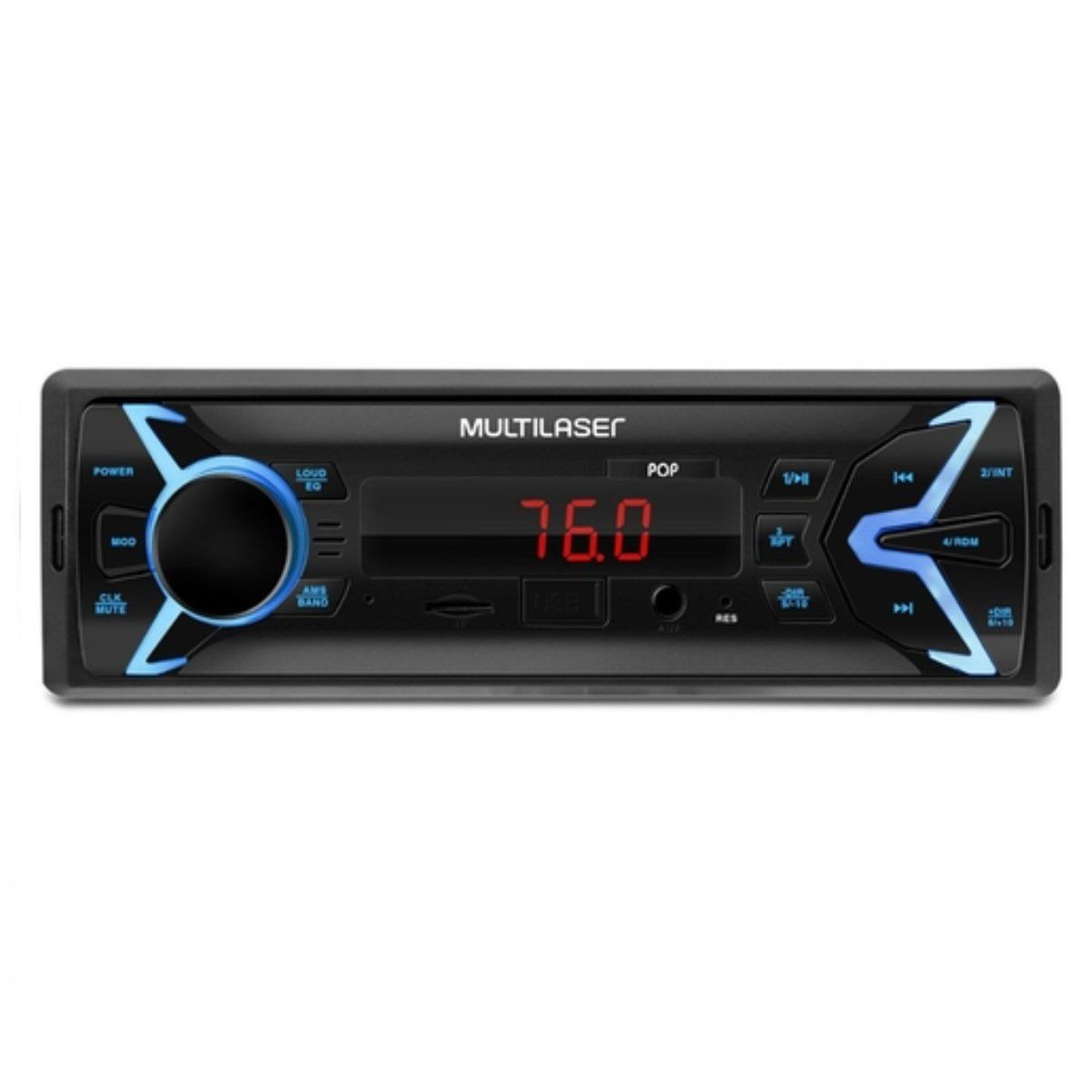 AUTORADIO POP MP3 4X25WRMS FM/SD/USB/AUX (05)