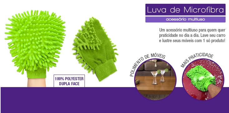 Kit 4 LuvaS Microfibra Limpeza E Polimento Automotivo