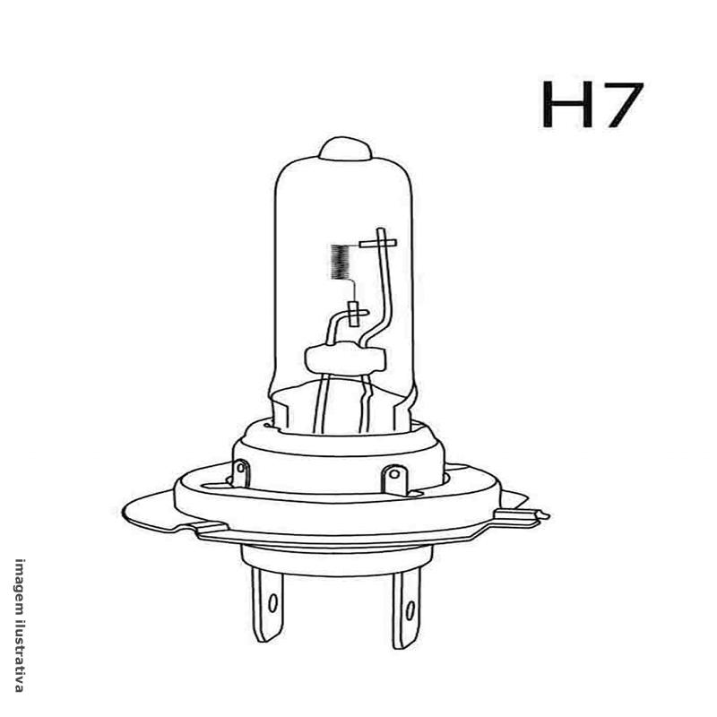 Lampada Para Caminhão Multilaser H7 24V 5000K Super Branca (PAR)