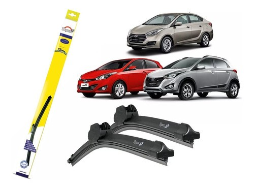 Palheta Limpador Parabrisa Dyna Hyundai Hb20 Hb20x Hb20s S509/S524.S516