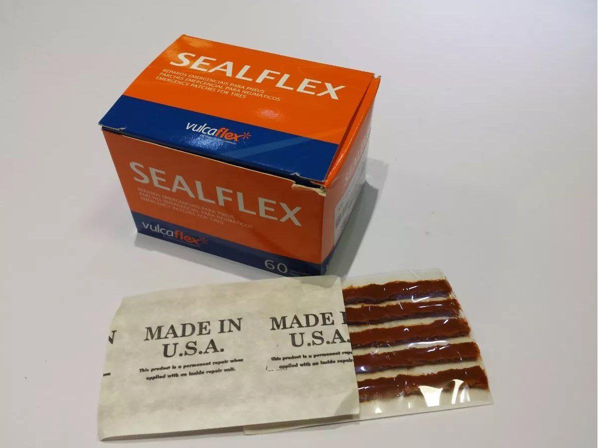 Refil Sealflex 100 Mm Conserto Pneu S/câmara Passeio 60 Unid VulcaFlex
