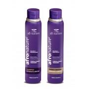 Shampoo e Condicionador Amêndoas e Abacate  Afro Nature  Para Cabelos Secos