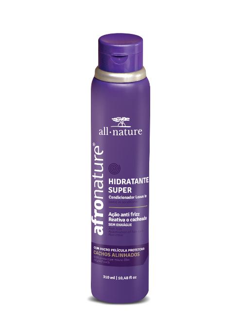 Ativador de Cachos Hidratante Super 310ml  All Nature  Ativa e Define os Cachos Disciplina os Fios Arrepiados Fornece Hidratação Brilho e Proteção