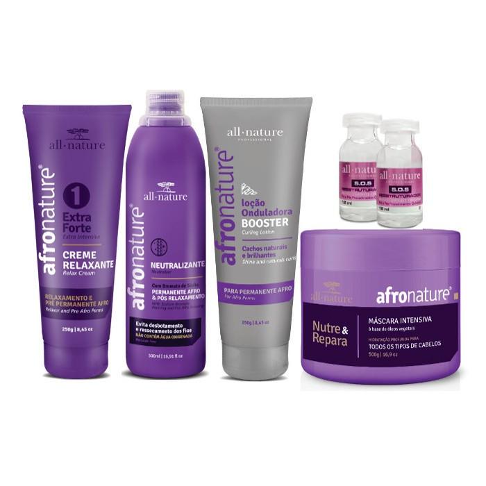 Kit Permanente Afro e Máscara de Hidratação