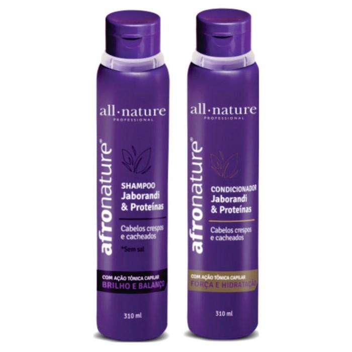 Shampoo e Condicionador Jaborandi e Proteínas 310ml Afro Nature / All Nature