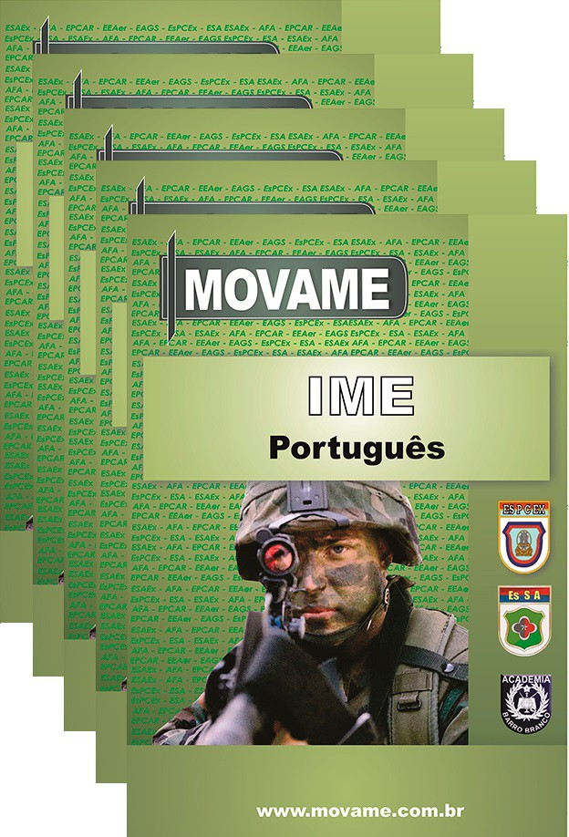 -Conjunto de Apostila IME Instituto Militar de Engenharia  - MOVAME CURSOS EDUCACIONAIS